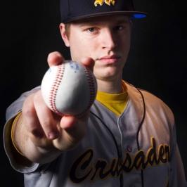 Dramatic Baseball Portrait