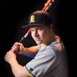 Intense Baseball Portrait
