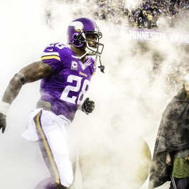 Minnesota Vikings Portrait Adrian Peterson
