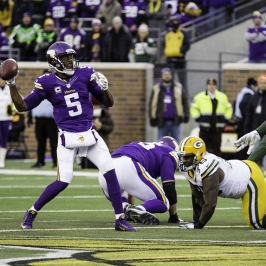 Teddy Bridgewater throws the football
