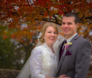 Whitewater WI Wedding Couple Portrait
