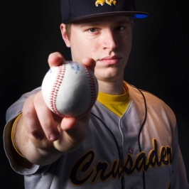 Dramatic Baseball Portrait