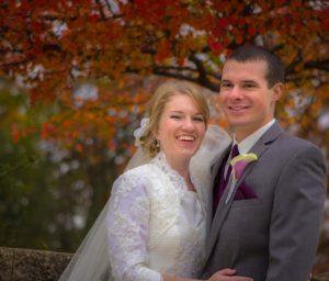 Whitewater WI Wedding Couple Portrait